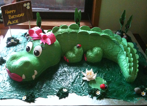 Crocodile Birthday Cake Designs